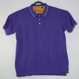 Robert Graham Mens Purple Polo Shirt Size XL